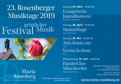 23. Rosenberger Musiktage